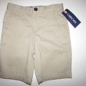 NEW-Girl's Cherokee VIntage Khaki Shorts Sz 4